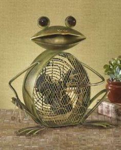 Deco Breeze DBF0361 Frog Figurine Decorative Electric Fan