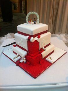 frigging awesome Lego wedding cake