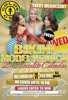 Bikini Model Search by Gold's Gym every Wednesday