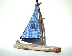 Driftwood Sailboat Wooden Boat Rustic Toy Boat Nautical Photo Prop Boat Beach…