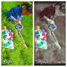 My little cousin before and after edit