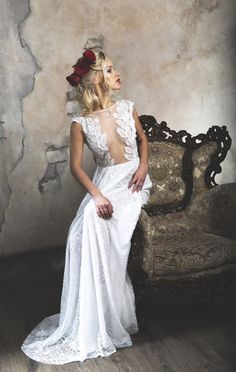 Hey, I found this really awesome Etsy listing at https://www.etsy.com/listing/193103934/white-sheath-wedding-dress-with-lace
