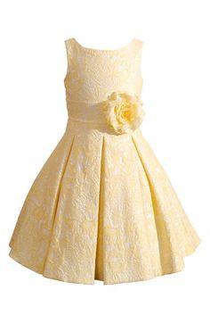 Kleinfeld Pink 'Jocelyn' Sleeveless Jacquard Dress (Toddler Girls, Little Girls & Big Girls) available at #Nordstrom