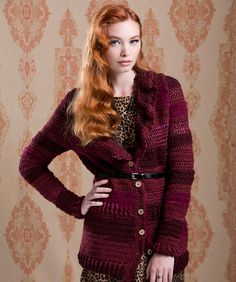 Ruffle Collar Cardigan - I love this pattern! Maybe if I start it now I can finish by next winter.
