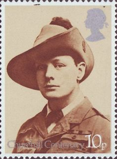 Stamp: War Correspondent, South Africa, 1899 (United Kingdom of Great Britain & Northern Ireland) (Sir Winston Churchill, Birth Centenary) Mi:GB 701 Uk Stamps, Postage Stamps, Royal Mail Postage, Commemorative Stamps, Winston Churchill, Penny Black, British History, Stamp Collecting, Great Britain