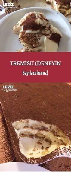 Tremisu (Try it You'll Love) – About Dessert World Yummy Recipes, Yummy Snacks, Snack Recipes, Delicious Food, Cauliflower Cheese Bake, Mousse Au Chocolat Torte, Oven Vegetables, Homemade Sauerkraut, Eggplant Dishes