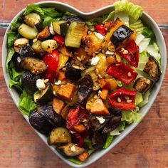 This Roasted Vegetable Salad is easy to make and incredibly versatile. It's also loaded with flavour! #veg #veggies #vegetables #salad | www.somethingaboutsandwiches.com Roasted Vegetable Salad, Roasted Vegetables, Veggies, Sandwich Sides, Kung Pao Chicken, Cobb Salad, Salads, Sandwiches, Tasty