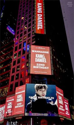 Fans celebrate Kang Daniel's birthday with Times Square ad | Koogle TV