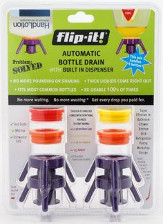 Flip-It - Get Every Drop of Honey - No More Shampoo Waste In Bottle with Flip It Economy Cap Kit