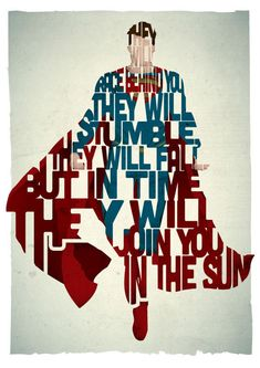 STANDARD SIZE Superman typography print based on a quote from the movie Man Of Steel
