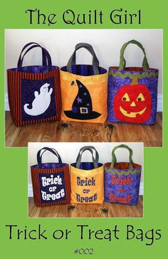Halloween Trick or Treat Bag Pattern from The Quilt Girl by BuilderBugs, $9.00