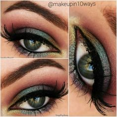 Makeup using Duochrome palette from Neve Cosmetics ^_^