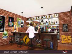 evi's Atlas Corner Restaurant Corner Restaurant, Sims Community, City Living, Have Fun, Dining Chairs, Nail, Dining Chair, Nails, Dining Table Chairs
