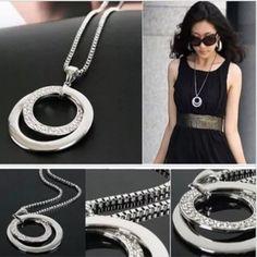 Silver circle necklace – 4hearts