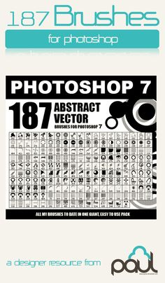 1000+ great Photoshop free brushes by PaulW (mostly tech brushes)