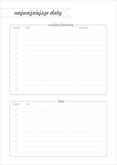 DIY Planer - organizer do wydrukowania Calendar Organization, Diy Organization, School Survival Kits, Free Prints, Study Tips, Free Printables, Back To School, Diy And Crafts, Bullet Journal
