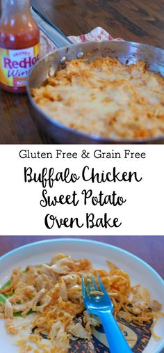 Buffalo Chicken Sweet Potato Noodle Oven Bake (Gluten Free and Grain Free) • Real Foodie Family