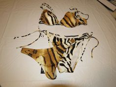 Eventi Donna Quindi EQ53  Italy S 3 piece thong Bikini swim suit Bathing *Spot # #EventiDonna #Bikiniwithathong