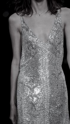 Sequinned Dress - glitzy fashion details // Saint Laurent Spring 2016