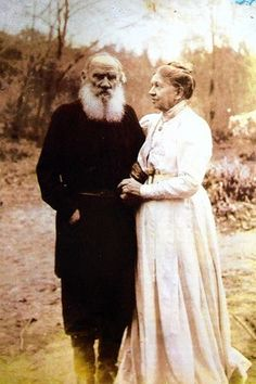 Leo and Maria Tolstoy on their 48th. wedding anniversary