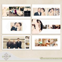 Wedding Album Template for Photographers. $35.00, via Etsy.