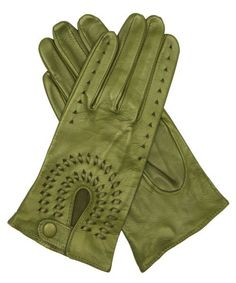 Women's Leather Driving Gloves By Fratelli Orsini