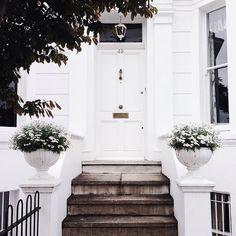 Beautiful white, clean and minimal door