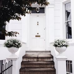 white townhouse