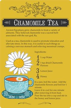 Chamomile Tea, #natural #health and #beauty I am pretty sure this is ok for Mormons, I hope sooo!!