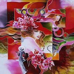 Painting People, Silk Painting, Skull Art, Flower Art, Fair Grounds, Disney Princess, Abstract, Disney Characters, Illustration