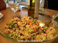 Ajustando as velas: Salada de sêmola de trigo com legumes