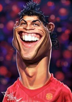 Caricaturas muy graciosas de los futbolistas más famosos