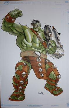 Planet Hulk  Humberto Ramos Comic Art