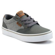 Vans Winston Skate Shoes - Boys, Boy's, Size: medium (3), Med Grey