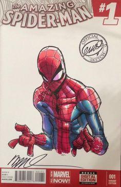Spider-Man by Humberto Ramos * Comic Book Characters, Marvel Characters, Comic Character, Comic Books Art, Spiderman Poses, Spiderman Art, Amazing Spiderman, Marvel Dc Comics, Marvel Heroes