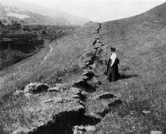 1906 San Francisco Earthquake on San Andreas Fault at Point Reyes by USGS