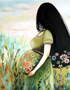 claudia tremblay - The Midwife - schwangere frau Claudia Tremblay, Mode Poster, Birth Art, Pregnancy Art, Pregnancy Info, Pregnancy Photos, Art Africain, Mothers Love, Mother And Child