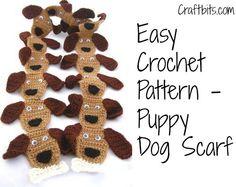 Crochet Scarf: Puppy Dog ~ free pattern ✿⊱╮Teresa Restegui http://www.pinterest.com/teretegui/✿⊱╮