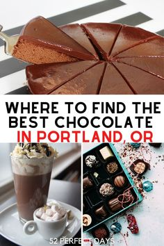 Portland is serving up some wonderful chocolate creations such as eating bars, desserts, and beverages. Find yummy Chocolate In Double Chocolate Stout, Best Chocolate, Caramelized Bacon, Cacao Nibs, Beverages, Drinks, Candy Store, Usa Travel, Foodie Travel