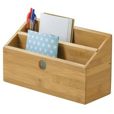 Keep your incoming and outgoing mail organized and in a convenient location with the Bamboo Desktop Bill and Mail Organizer.