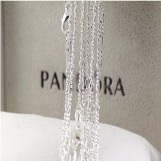 """Wholesale 10pcs Jewellery 2.3MM 18"""" 925 Solid Silver Figaro Women Chain Necklace #Unbranded #Chain"""