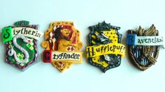 Polymer Clay Hogwarts House Crests