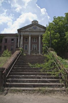 The abandoned Central State Hospital (formerly known as Georgia State Lunatic, Idiot and Epileptic Asylum, Georgia State Sanitarium and Midgeville State Hospital) can be found on and around Jones Drive in Milledgeville, Georgia.