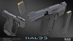 ArtStation - Halo 5 Magnum, Andrew Bradbury