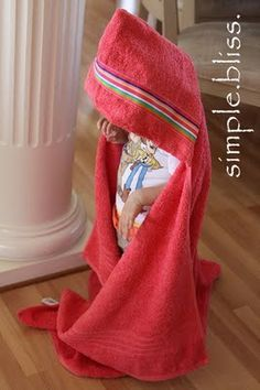 DIY hooded towels! Holy cow, my mom has been making these FOREVER! A little different, but these are really great