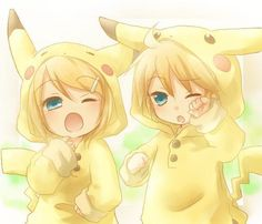 Daisy (left) and David (right) are 7 year old pokemon fans. They were both abandoned while looking around in a Pokemon Shop. The orphanage took them in. They both love pikachu over all pokemon, and will smile when handed oranges. Pikachu Pikachu, Pikachu Tumblr, Pikachu Suit, Anime Chibi, Kawaii Anime, Kawaii Chibi, Manga Anime, Hatsune Miku, Fantasy