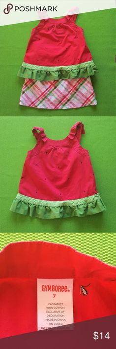 "Gymboree ""Watermelon Picnic"" Top & Skort-2 PC. SET Gymboree ""Watermelon Picnic"" Top & Skort (2 PC. SET) - Size 7 (both pieces) - Very Good Used Condition (No rips, stains or holes - Light fading from normal wash and wear) - All 100% Cotton.  It's a picnic shindig (without the ants)!!! Gymboree Matching Sets"