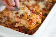Vegetable Lasagna Recipe- this took a while to make (I take forever to chop veggies), but SO WORTH IT. <3 Ben even asked for the recipe when I made it for him. You know a veggie lasagna recipe is a keeper when a red meat lover asks for it.