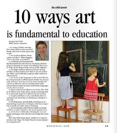 Helpful ways to communicate benefits of an art education in today's economy.