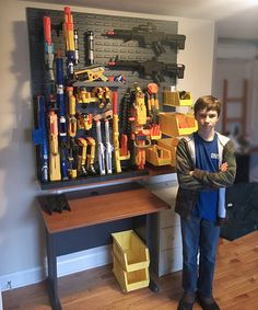 DIY Nerf gun storage wall! Build your own ultimate with this step-by-step guide!
